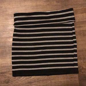 Stretchy striped skirt